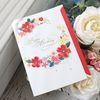 붉은 꽃 화관 생일축하카드 (025-SG-0071)