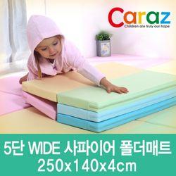 5단와이드 사파이어 놀이방 폴더매트 (140x250x4cm)