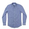 (AS1303) small check shirts blue