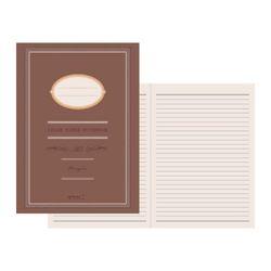 Color Paper Notebook(A5) - 초콜릿