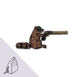 [Macon&Lesquoy] 마콩 자수패치_총 쏘는 너구리