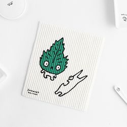 SNOWCAT Dishcloth 스웨덴 행주 - Leaf