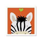 유코 라우 아이방 그림액자 Peek-a-Boo Zebra
