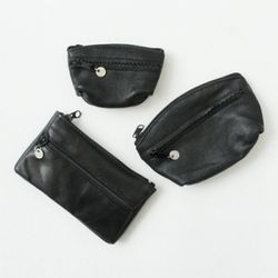 Vintage black wallet ver.2 -Round mini