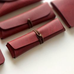 Pencil Case - Cross Folding [French Claret]