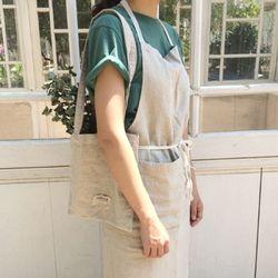 워시드 린넨 에이프런 : washed linen apron [2color]