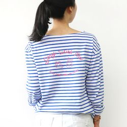 HelloGeeks Stripe top - blue