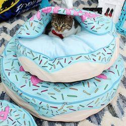 미스터 펫 애완동물방석 Do 2 도넛패닉 블루방석 - XL