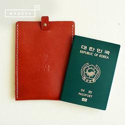 [천연소가죽] 슬라이드 여권케이스(오렌지브라운)
