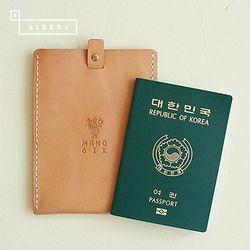 [천연소가죽] 슬라이드 여권케이스(탠드베이지)