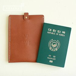 [천연소가죽] 슬라이드 여권케이스(새들브라운)