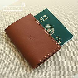 [천연소가죽] 베이직 여권 커버(새들 브라운)