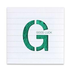 [클리어런스] 씨앗종이 MESSAGE CARD (Good Luck)