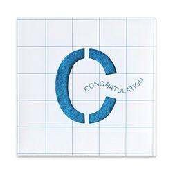 [클리어런스] 씨앗종이 MESSAGE CARD (Congratulation)
