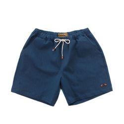 COTTON SPAN SHORT PANTS(blue-green denim)