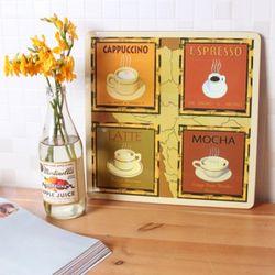 하우스케어 코르크 테이블매트 (중) 1P -Coffee Type