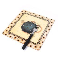 하우스케어 코르크 테이블매트 (중) 1P -Dot Teapot