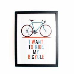 빈티지 자전거 인테리어액자