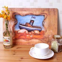 하우스케어 코르크 테이블매트 (대) 1P -England Ship