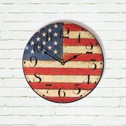 빈티지 USA 우드 벽시계