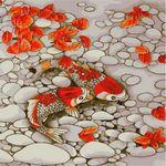 DIY명화-E256 연못속 비단잉어들의 향연