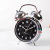 (kts019)트윈벨 탁상시계(크롬블랙)