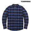 밴웍스 헨리넥 옴브레 체크셔츠 BLUE(V15SH303)