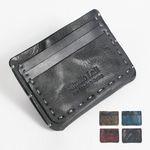 홈질카드지갑 단면