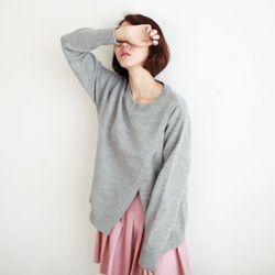 랩 슬릿 스웨터