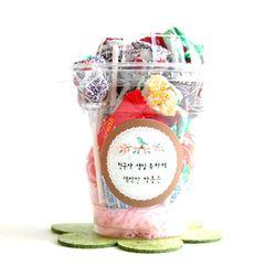 작은새의정원 선물포장 24개셋트(투명컵)