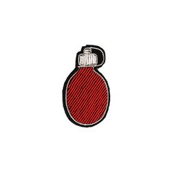 [Macon&Lesquoy] 마콩 자수브로치_붉은 호리병박