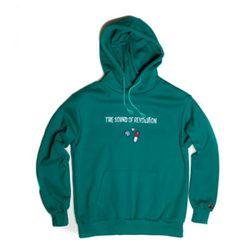 Revolution napping hoody(emerald green)