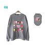 wwg sweatshirt set : something sweet[melange gray]
