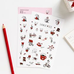 SNOWCAT STICKER (RED)