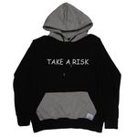 TAKE A RISK HOOD BLACK