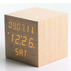 빠띠라인 우드타입 LED 탁상용 시계 스몰