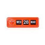 [트웸코] 캘린더 플립시계 BQ38 (Orange)