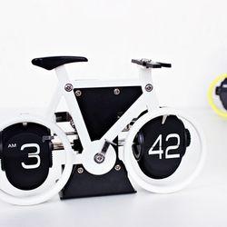 (kts062)자전거플립 탁상시계 화이트