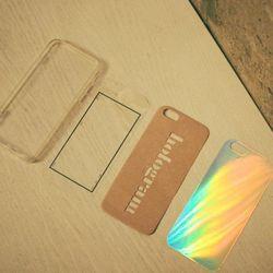 아이폰 hologram 크라프트 필름케이스 패키지