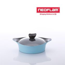 네오플램 냄비 애니 24cm 전골 유리뚜껑 - 민트