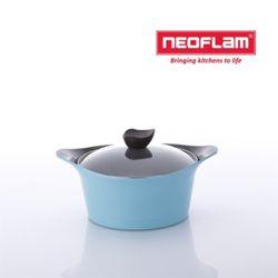 네오플램 냄비 애니 20cm 양수 유리뚜껑 - 민트