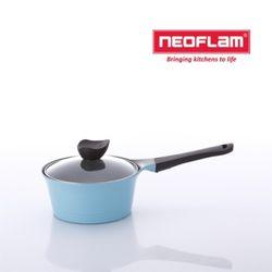 네오플램 냄비 애니 18cm 편수 유리뚜껑 - 민트