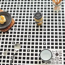스퀘어북 코튼식탁보-블랙(2인90cm)