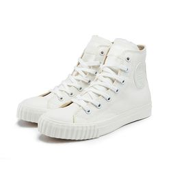 [Bata Bullets] Tone on Tone Canvas High (White)