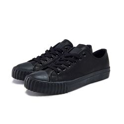 [Bata Bullets] Tone on Tone Leather Low (Black)