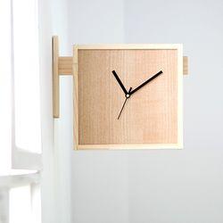 양면 원목 벽시계 DIY + 시계무브 실버(2세트)