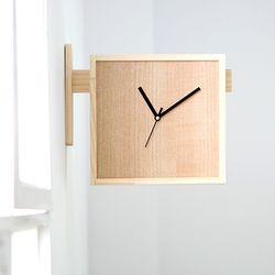 양면 원목 벽시계 DIY+시계무브 실버블랙(각 1세트)