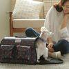 강아지 프리미엄 이동가방-오리지널 블루 도트(L)