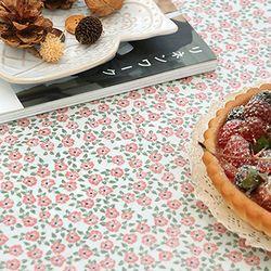 스칸디 미니로즈-핑크 원형방수식탁보 지름 110cm