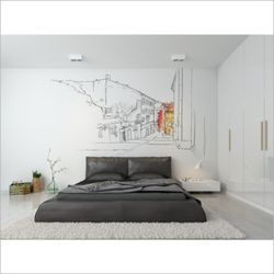 하이든 웨이 드로잉 일러스트 포인트 벽지 뮤럴 벽지
